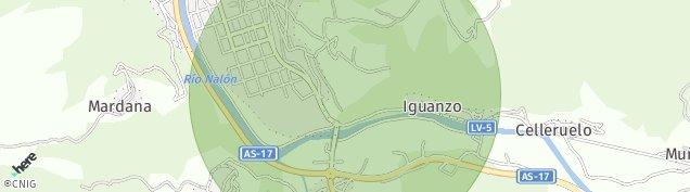 Mapa Pola de Laviana