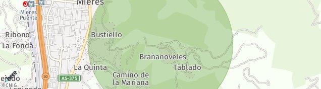 Mapa Mieres del Camino