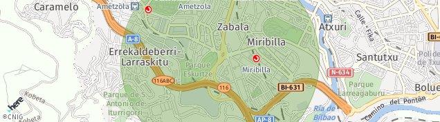 Mapa Ametzola