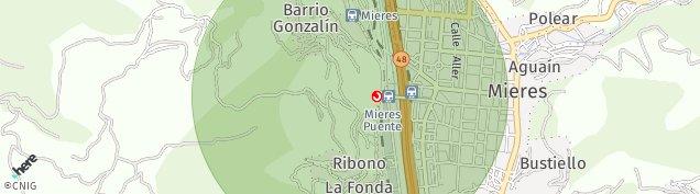 Mapa Cruz de Los Caminos