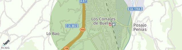Mapa Los Corrales de Buelna