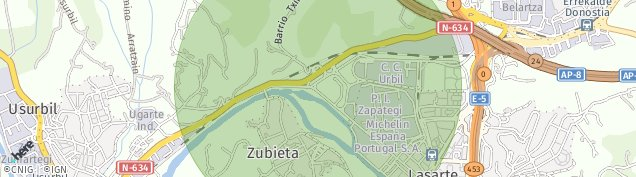 Mapa Usurbil
