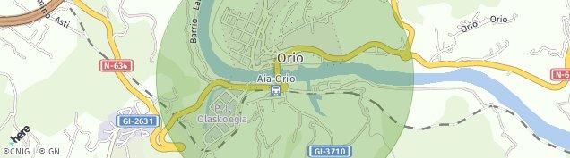Mapa Orio
