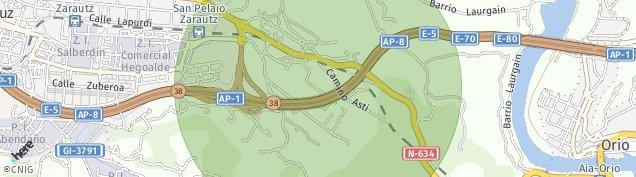 Mapa Zarautz