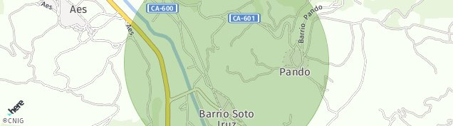 Mapa Pando de Cantabria