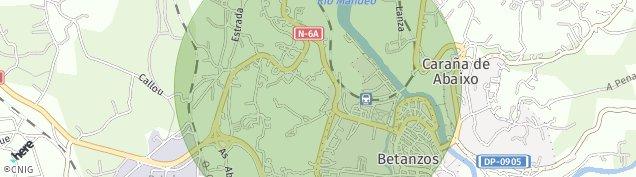 Mapa Betanzos