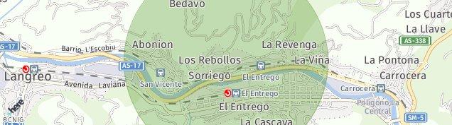 Mapa El Entrego