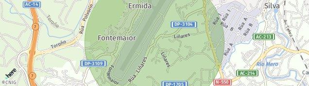 Mapa Culleredo