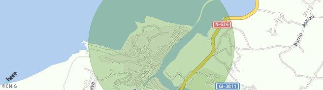 Mapa Zumaia