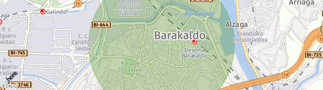 Mapa Barakaldo
