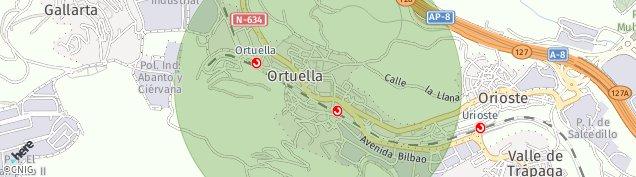 Mapa Ortuella