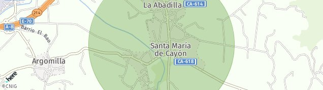 Mapa Santa María de Cayón