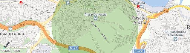 Mapa Donostia-San Sebastián