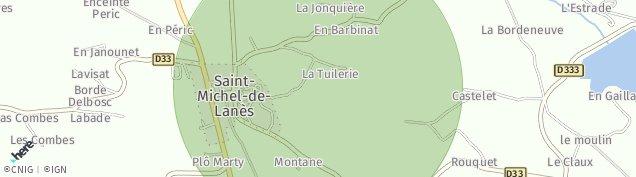 Carte de Saint-Michel-de-Lanès
