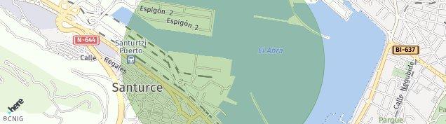 Mapa Santurtzi