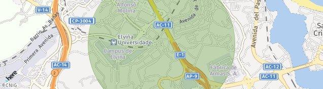 Mapa Carretera Castro de Elviña