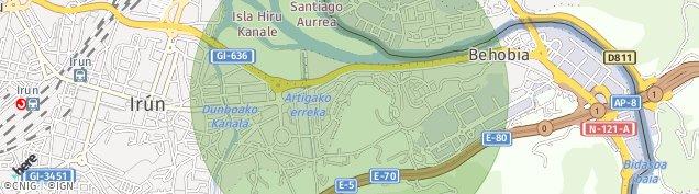 Mapa Irun