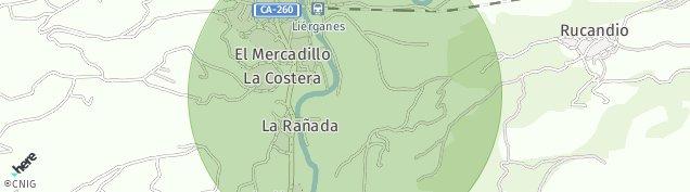 Mapa La Vega de Cantabria
