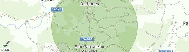 Mapa Badames