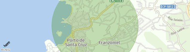 Mapa Porto de Santa Cruz