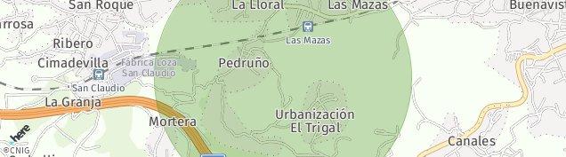 Mapa San Roque de Asturias