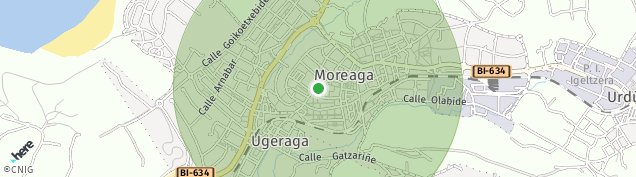 Mapa Moreaga