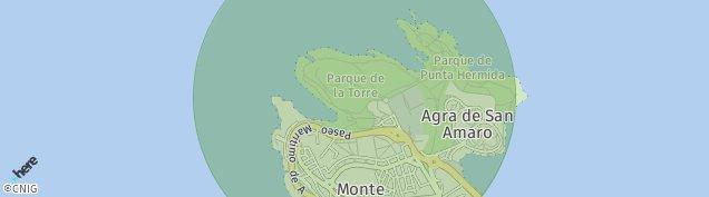 Mapa A Coruña