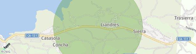 Mapa Liandres