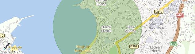 Carte de Saint-Jean-de-Luz
