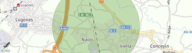 Mapa Lugones