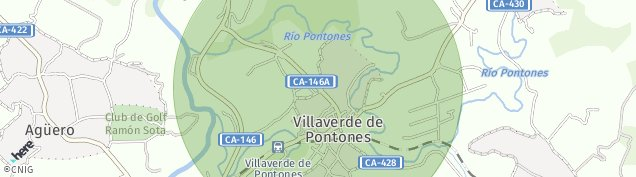 Mapa Villaverde de Pontones