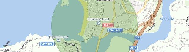 Mapa Pontedeume