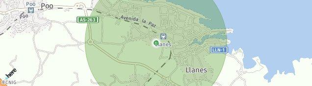 Mapa Llanes