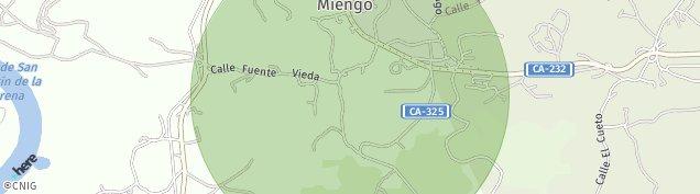 Mapa Miengo