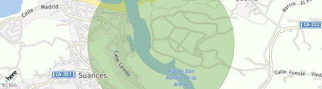 Mapa Suances