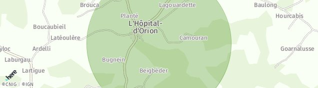 Carte de L'Hôpital-d'Orion