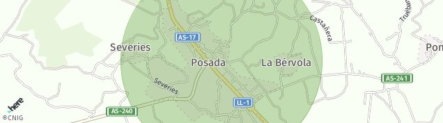Mapa Posada de Llanera