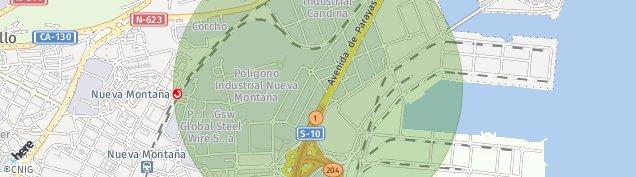 Mapa Santander