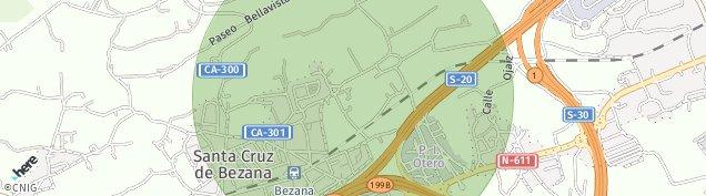 Mapa Santa Cruz de Bezana