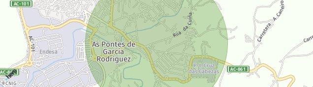 Mapa As Pontes de García Rodríguez