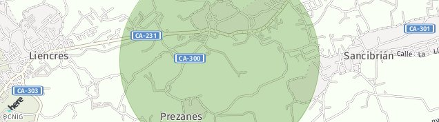 Mapa Prezanes