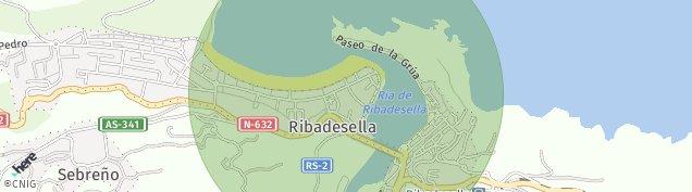 Mapa Ribadesella