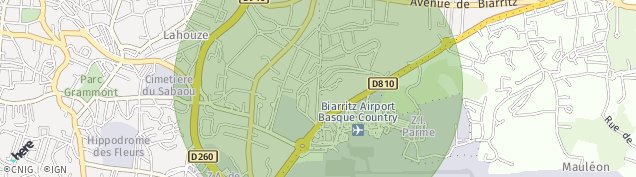 Carte de Biarritz