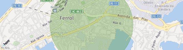 Mapa Ferrol