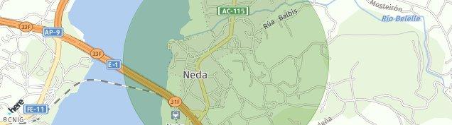 Mapa Neda
