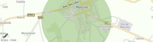 Carte de Marciac