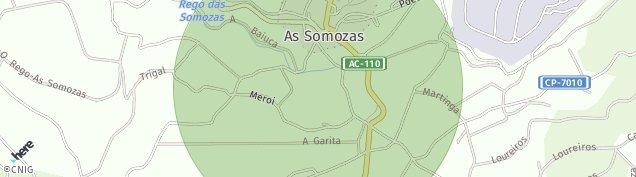 Mapa A Santiago Sere de Somozas