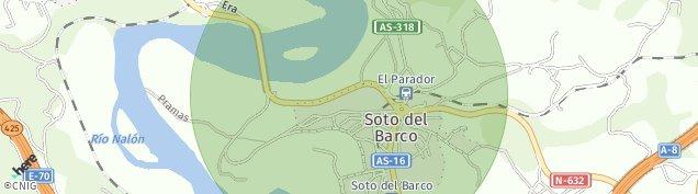 Mapa Soto del Barco