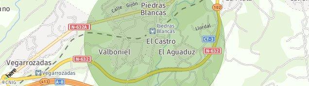 Mapa Piedras Blancas