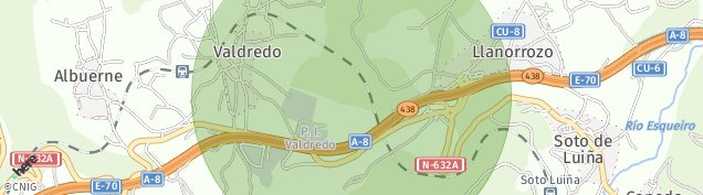 Mapa Valdredo
